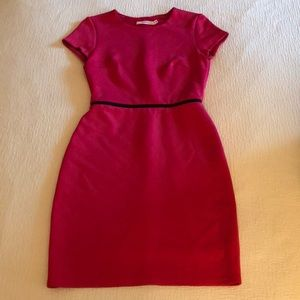 Fucsia pink cap sleeved work dress